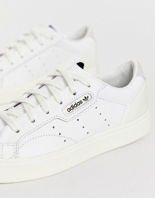 adidas Originals white Sleek sneakers