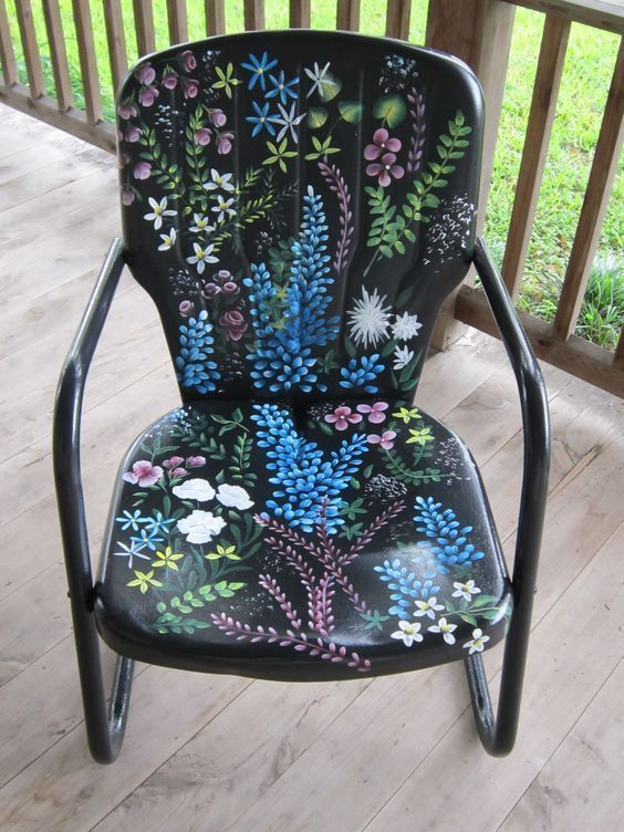 Painted Metal Garden Chair Painted Furniture Chair Furniture
