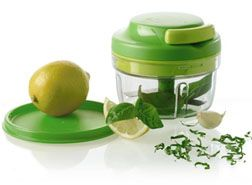 Tupperware Chop 'N Prep. I used to only use my Pampered Chef chopper but this thing completely replaces that! It comes with a lid to so if you make a small batch of chicken salad, egg salad, homemade nut butter, etc, you can store it right in the container!