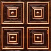 "Talissa Decor - Stylish, Decorative, Glue Up, Faux Tin Ceiling Tile : #112 Antique Copper  Size: 24"" X 24""   Price: 10.99 USD http://www.talissadecor.com/catalog/glue-up-faux-tin-ceiling-tiles/antique-finish-ceiling-tile"