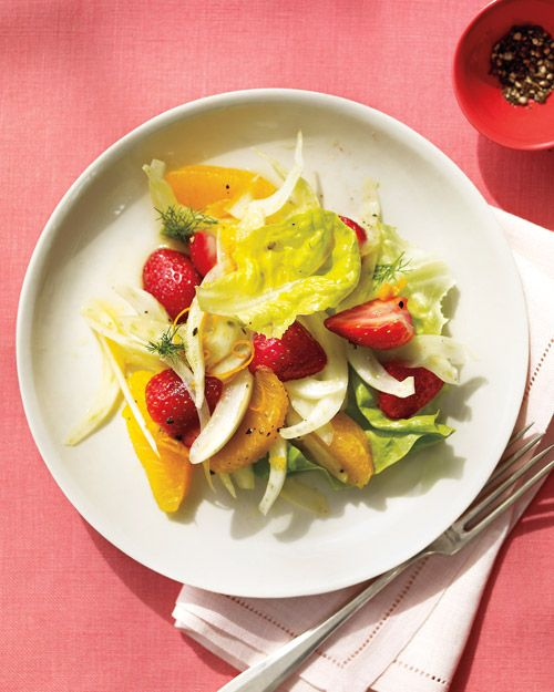 Strawberry, Fennel, and Orange Salad: This simple salad is juicy and refreshing, especially on a hot summer day, Wholeliving.com