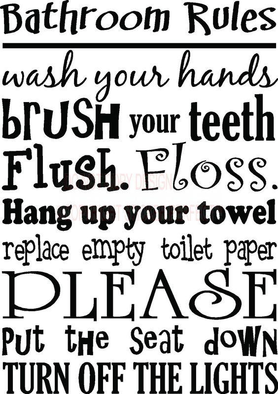 Bathroom Signs Sayings bathroom quotes vinyl | ideas | pinterest | vinyls, inspirational