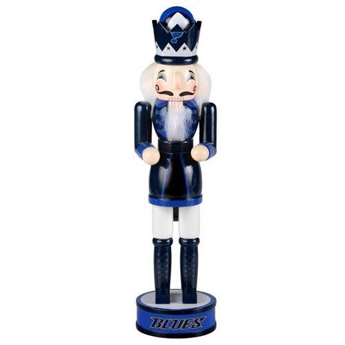 "St Louis Blues NHL 14"" Holiday Nutcracker"