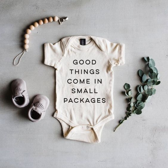 'Good Things Come In Small Packages' Baby Onesie | TheOystersPearl on Etsy