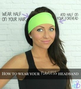 how to wear your flawless headband