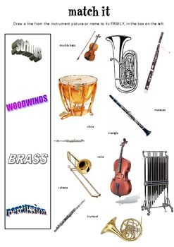 Match It! Instruments of the Orchestra worksheet | Cycle 2 Week 19 ...