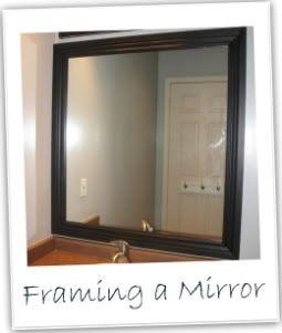 Simple option for framing a bathroom mirror.
