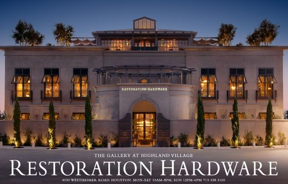 the new restoration hardware in Houston...AMAZING!!!!