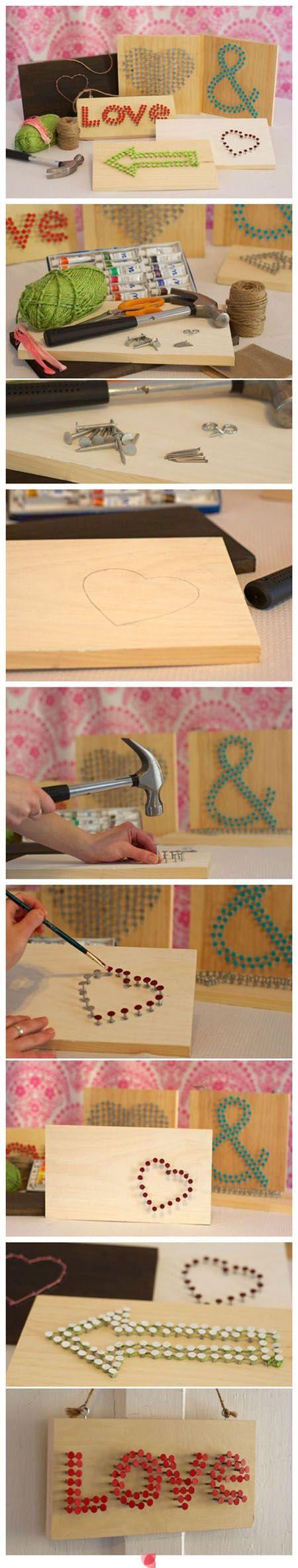 DIY Wood, Yarn and Nail Art - Ideeën voor knutsels | Pinterest ...