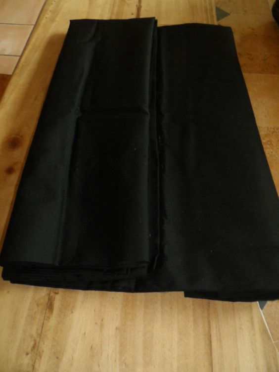 PILLOW CASES. TWO. BLACK COLOR.STANDARD SIZE .NEW #MAINSTAYS