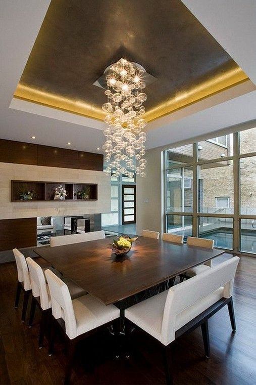 24 Attractive Contemporary Decor Ideas For Dining Room Square Dining Room Table Contemporary Dining Room Design Luxury Dining
