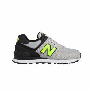 New Balance Noir Et Orange Fluo