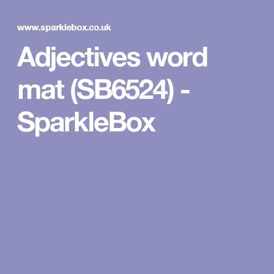 Adjectives word mat (SB6524) - SparkleBox