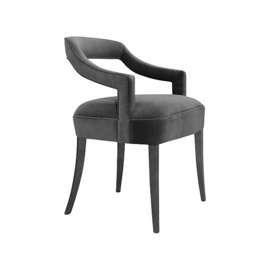 Oka  Dining Chair  Contemporary, MidCentury  Modern, Transitional, Upholstery  Fabric, Wood, Dining Room by Carlyle Collective