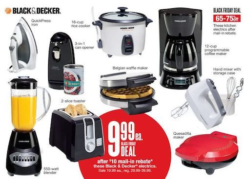 Black And Decker Black Friday 2020 Deals Get Huge Discounts Offers Black Decker Coffee Maker Cuisinart Food Processor