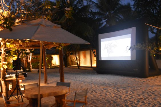 How about catching a movie at the Beach Bar. Pull up a directors chair and enjoy the flick.