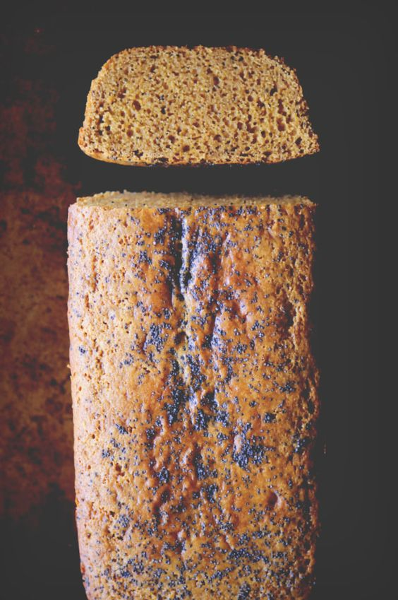 Chickpea Flour Lemon Poppy Seed Bread (Gluten-Free) - A perfectly moist, subtly sweet, lemon poppy seed loaf made with chickpea (garbanzo bean) flour! This gluten-free bread makes a great healthy breakfast, snack or dessert! | www.moonandspoonandyum.com #glutenfree #bread #loaf #lemon #poppyseed #chickpeaflour #garbanzobeanflour #breakfast #dessert #baking