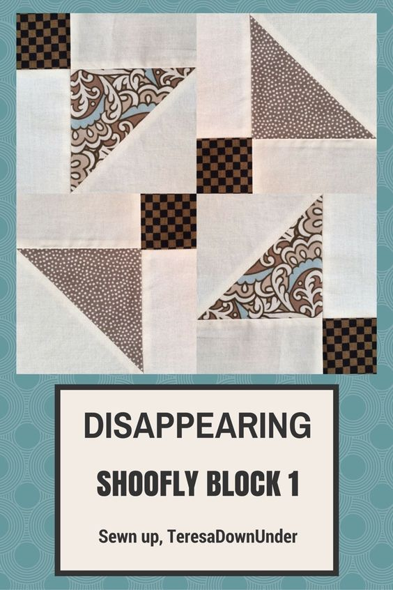Video tutorial: Disappearing shoofly block - variation 1: