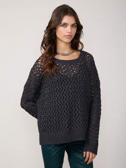 not too loose crochet sweater...a good in-between for New Mexico ...