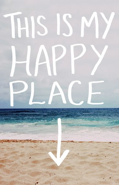My Happy Place (Beach) Art Print by Leah Flores   Society6