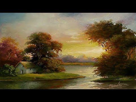 Gouache Painting Sunrise Landscape By Yasser Fayad Youtube Oil Painting Landscape Mountain Landscape Painting Sunrise Landscape
