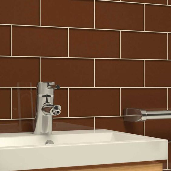 "Glass Subway Tile (Milk Chocolate) - 3"" x 6"" Piece. $1.87 Per Tile from Wholesalers USA"