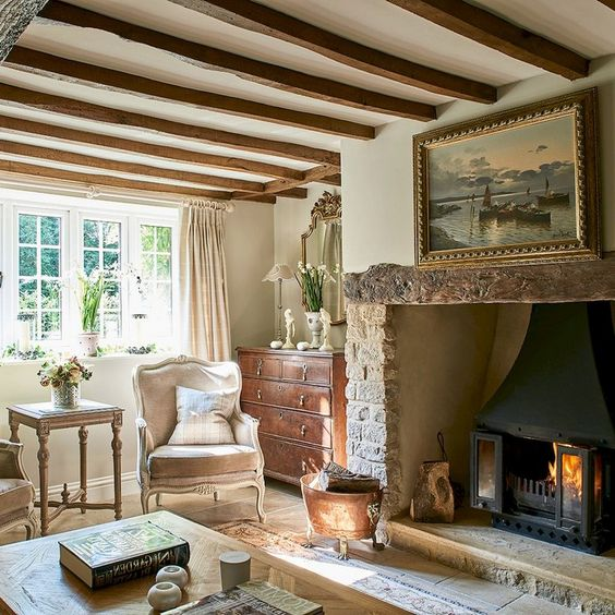 45 French Country Living Room Design Ideas #countrylivingrooms #design #livingroomdesignideas