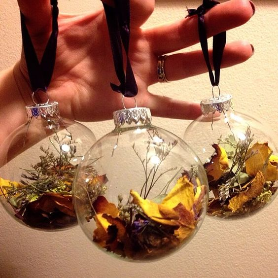 Homemade Ornaments: Fill With A Bouquet Of