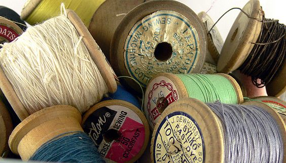 One of my favorite vintage things -- old thread.