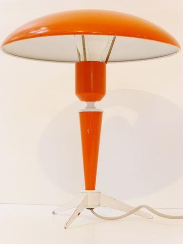 lampe a poser philips orange blanche typique 50 39 s vintage design annees 50 love but 200. Black Bedroom Furniture Sets. Home Design Ideas