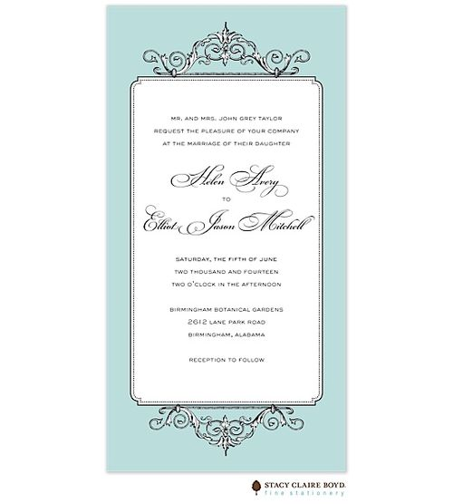 Elegant Affair Invitation   #wedding invitation #invitation