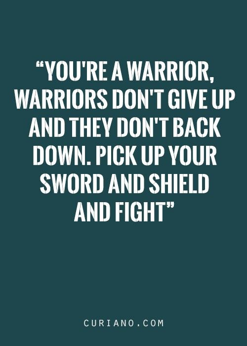 Love this...  I am a warrior!!! @zaza11 So are you, chick xx