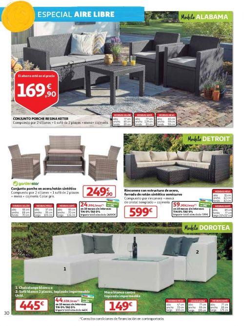 Muebles jardín Alcampo 2018: casetas y conjuntos de sofás ...