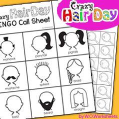 Crazy Hair Day Bingo for the Classroom