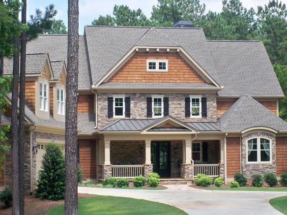 Cedar Shake And Stone Home Designs Pinterest