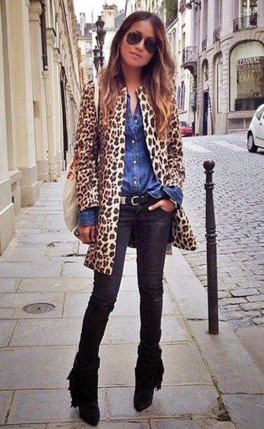 Looks Inspiração: Look: Leopard Coat