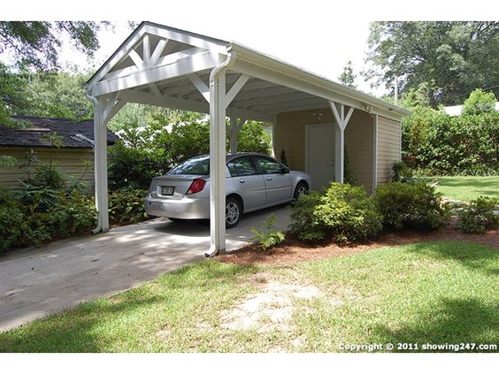 Detached Carport Driveway Off Bowen Leads To Detached