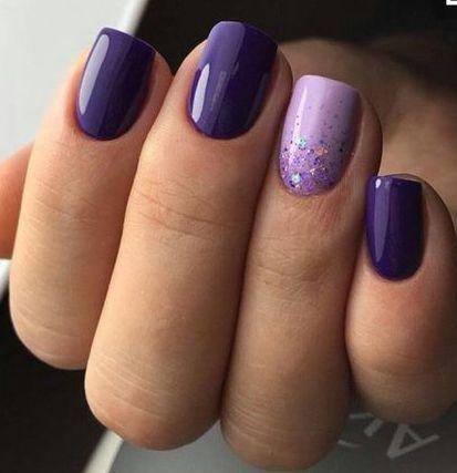 Superb Light And Dark Purple Nail Polish Dark Purple Nails Purple Nails Purple Nail Designs