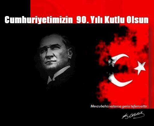 29 Ekim Cumhuriyet Bayramımız Kutlu Olsun! Celebrating the 90th Anniversary of Turkish Republic.