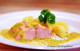 Manus Küchengeflüster: Lachsfilet in Curry-Kräutersauce