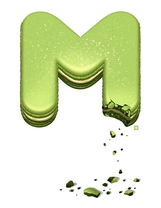 Typography - Alphabet Delicious Drop Caps by Jon Reinfurt - Letter M