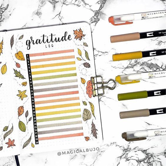 10 idées de mises en page pour votre gratitude log