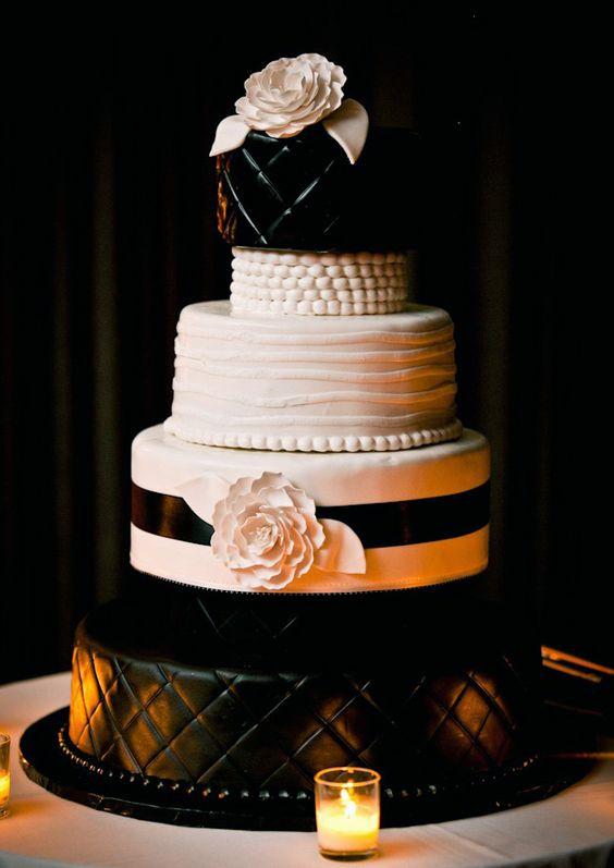 Wedding cake. Chanel inspired
