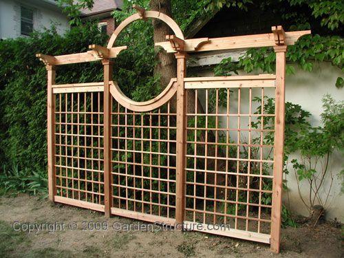 Red Cedar Trellis Fence For Gardens Plans