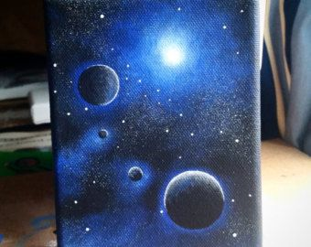 Night Sky Painting von PaintedWilderness auf Etsy