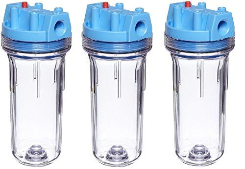 Pentek 150071 3 4 10 Standard Clear Filter Housing With Pressure Relief Pack Of 3 Water Storage Pressure Tanks Reverse Osmosis Water
