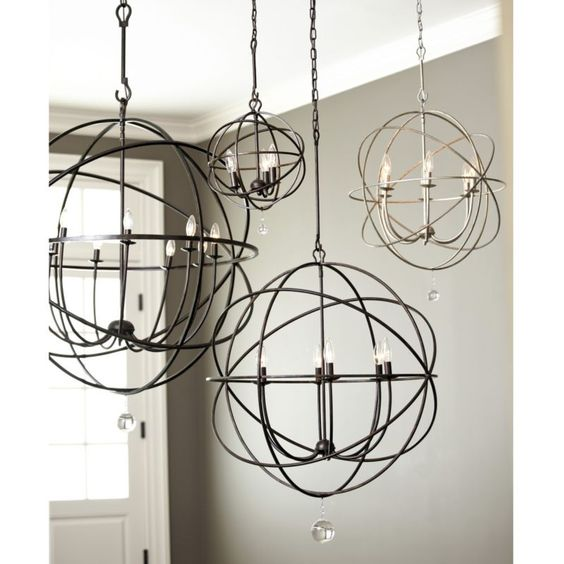 Large Foyer Orb Chandelier : Entry way minus the crystal petite orb chandelier