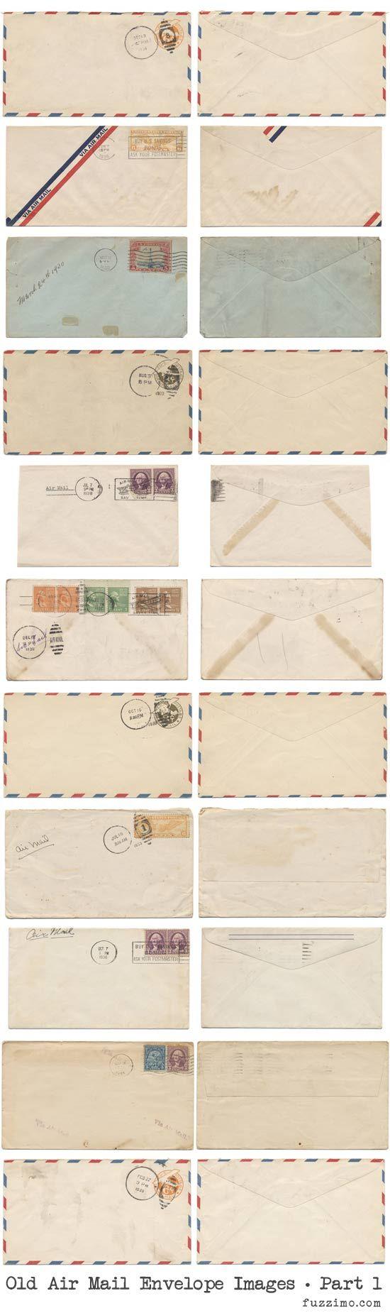 printable air mail envelopes