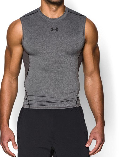 Black Compression Shirt Large Mens Muscle Compression Tank Top