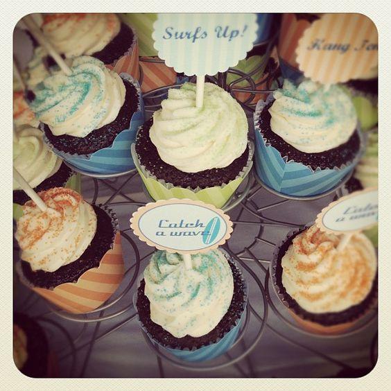 Karen's Surf Cupcakes! - @bar1jp- #webstagram: Bar1Jp Webstagram, Karen S Surf, Karen O'Neil, Surf Cupcakes, Cupcakes Bar1Jp, Bridal Shower, Kelly Bridal, Baby Shower